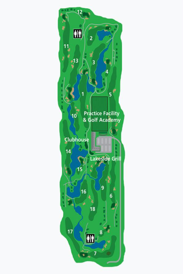 Mayfair Lakes Course Map
